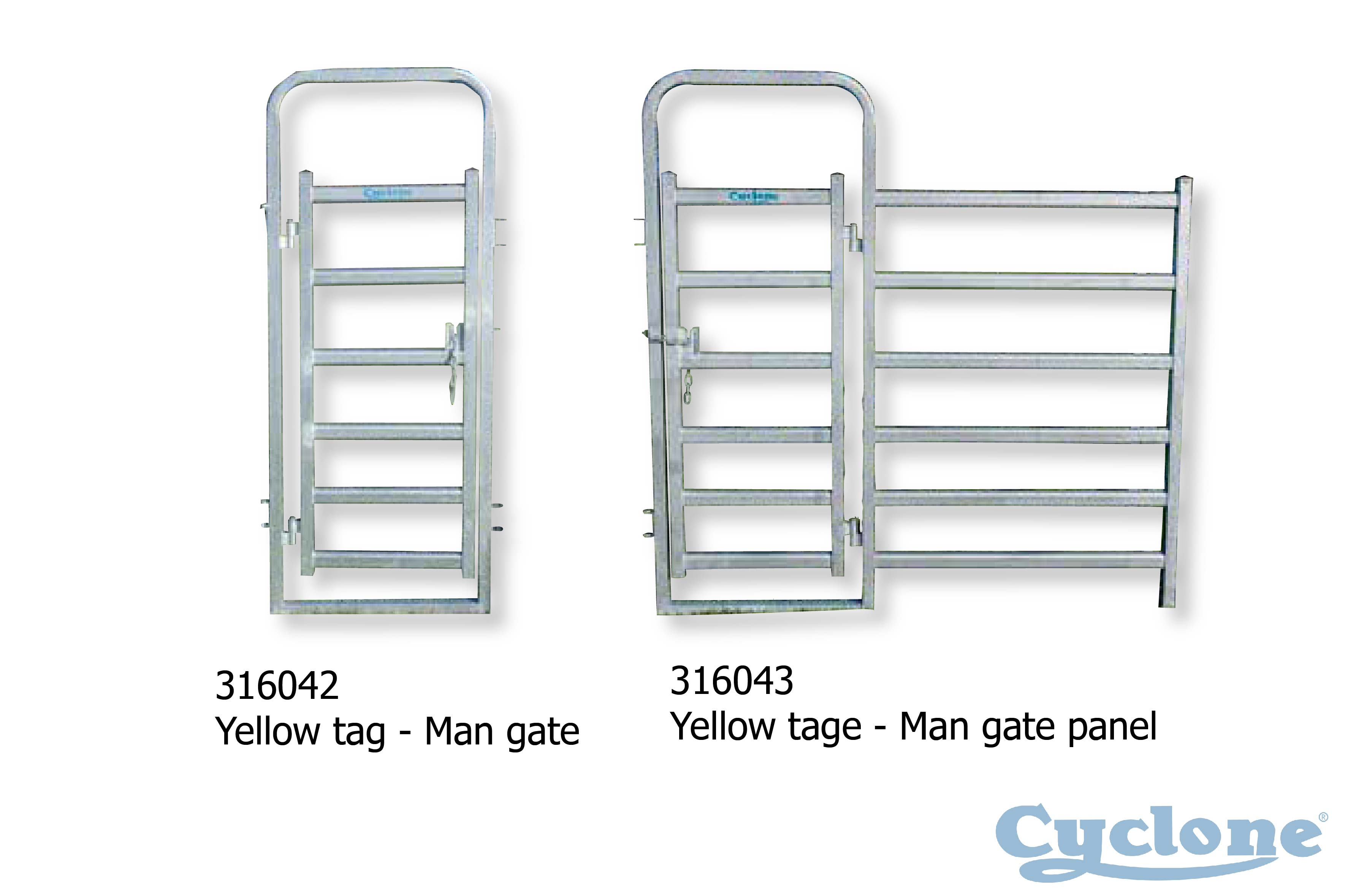 Cyclone Cattle Yard | cattle yard man gate