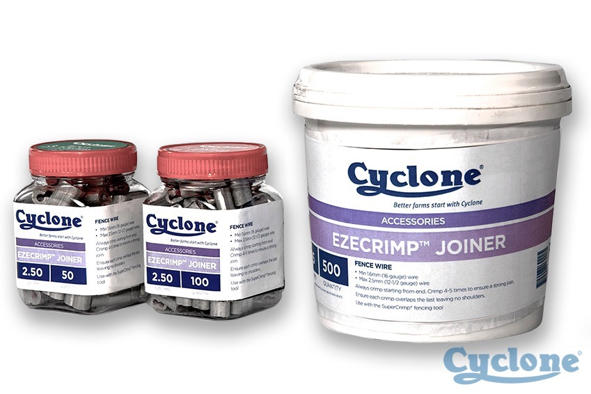Cyclone ezecrimp wire joiners